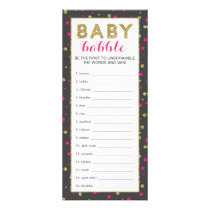 Baby Word Scramble Game, Gold Safari, 25 Pack Rack Card