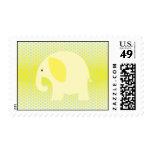 Baby Yellow Elephant on Yellow Postage