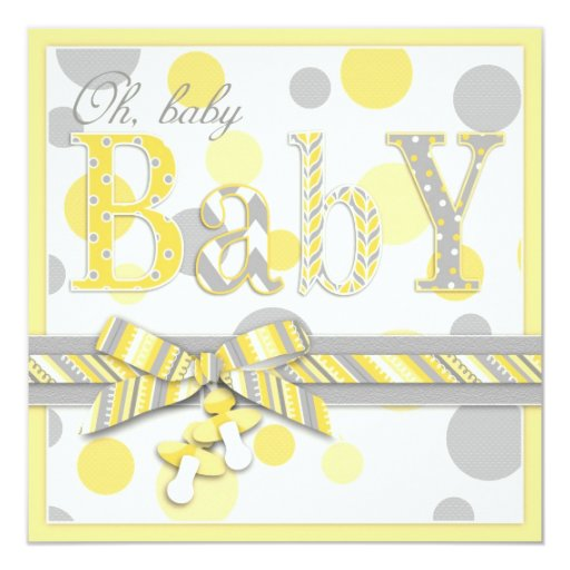 Yellow And Gray Baby Shower Invitations and get inspiration to create nice invitation ideas
