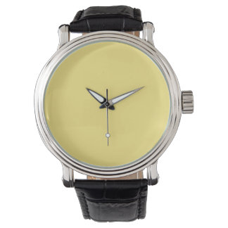 Baby Yellow Personalized Trend Color Background Watches