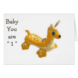 "BABY-YOU ARE ""1"" READY TO HAVE SOME ""FUN"" CARD"