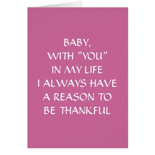 BABY, YOU DEFINE LOVE CARD