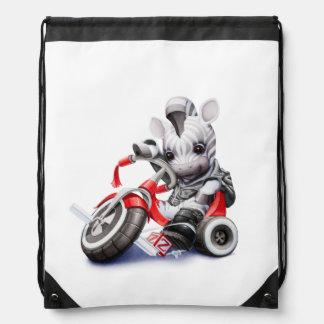 Baby Z Zebra Drawstring Backpack