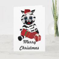 Baby Zebra Christmas Card
