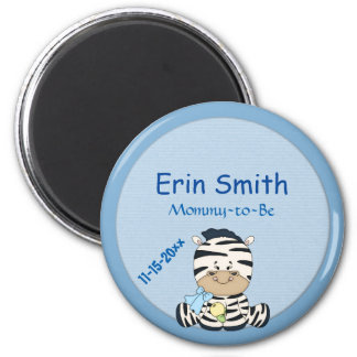 Baby Zebra, Customizable Baby Shower & Mommy to Be Magnet