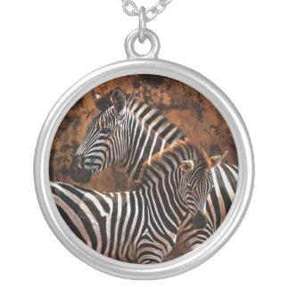 Baby zebra exclusive designer art personalized necklace