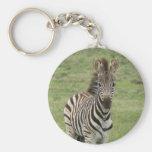 Baby Zebra Keychain
