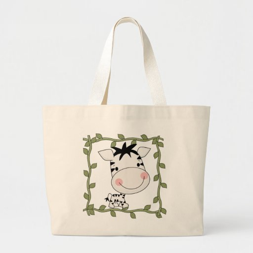 Baby Zebra T Shirts And Gifts Large Tote Bag Zazzle