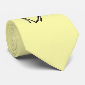 Baby Zebra Tie (Pale Yellow)