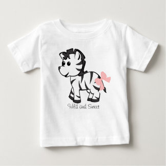 Baby Zebra with Pink Bow Baby T-Shirt