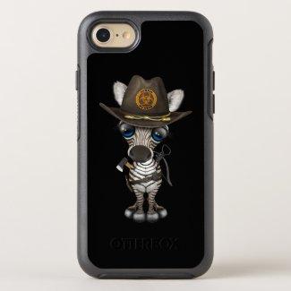 Baby Zebra Zombie Hunter OtterBox Symmetry iPhone 8/7 Case