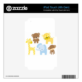 baby zoo animals decals for iPod touch 4G