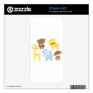 baby zoo animals decals for the iPhone 4