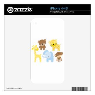 baby zoo animals iPhone 4S decal