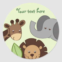 Baby Zoo Jungle Animal Stickers Envelope Seals
