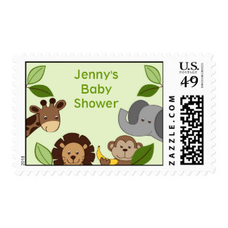 Baby Zoo Jungle Animals Custom Postage Stamps