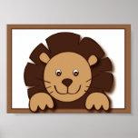 Baby Zoo Lion Jungle Animal Wall Art Print 5X7
