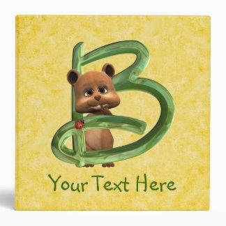 BabyBear Toon Monogram B Binders