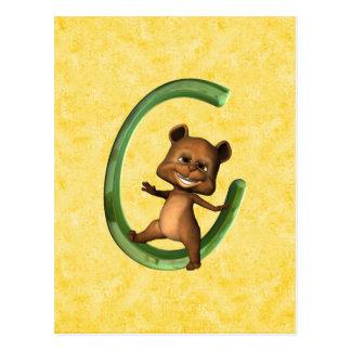 BabyBear Toon Monogram C Postcard