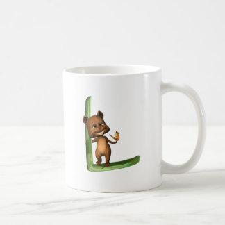 BabyBear Toon Monogram L Classic White Coffee Mug
