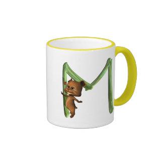 BabyBear Toon Monogram M Ringer Coffee Mug