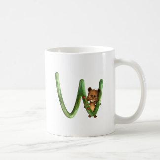 BabyBear Toon Monogram W Classic White Coffee Mug
