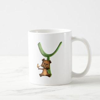 BabyBear Toon Monogram Y Classic White Coffee Mug