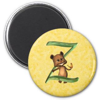 BabyBear Toon Monogram Z 2 Inch Round Magnet