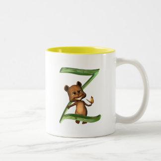 BabyBear Toon Monogram Z Two-Tone Coffee Mug
