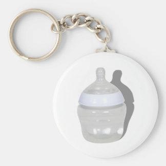 BabyBottle062210Shadow Basic Round Button Keychain