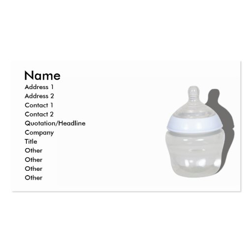 BabyBottleCard, Name, Address 1, Address 2, Con... Double-Sided Standard Business Cards (Pack Of 100)