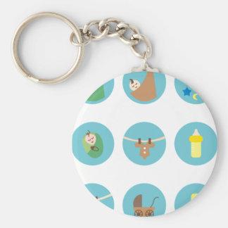 babyboy2 basic round button keychain