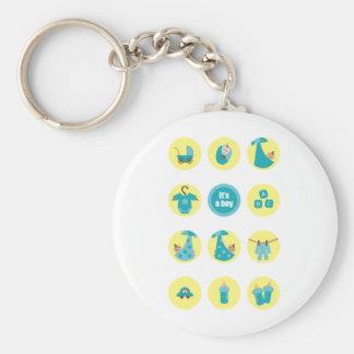 babyboy3 basic round button keychain