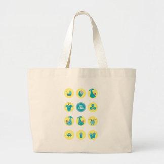 babyboy3 large tote bag