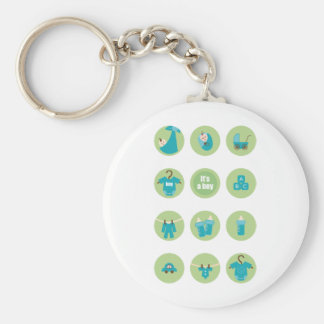 babyboy4 basic round button keychain
