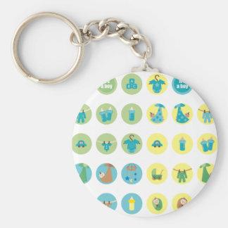 babyboy5 basic round button keychain