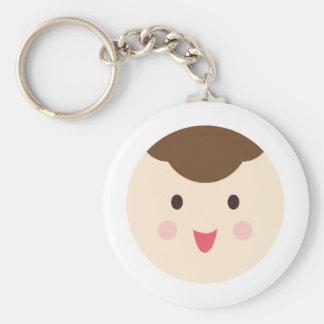 babyboyface4 basic round button keychain