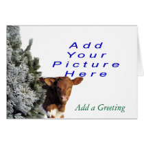 BabyCalf Christmas- Add your picture. Card