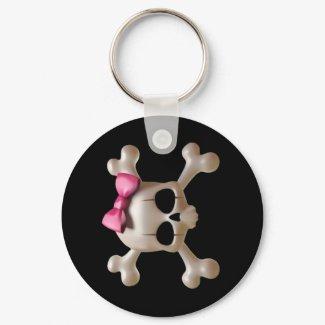 Babydoll goth skull Keychain keychain