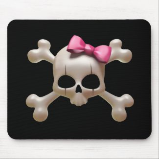 Babydoll goth skull Mousepad mousepad
