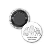 Babydoll Sheep Magnet