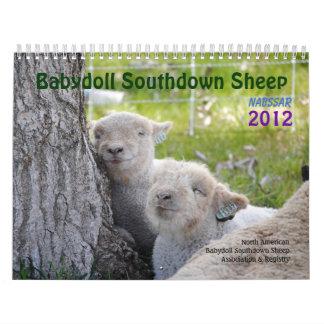 Babydoll Southdown Sheep NABSSAR 2012 Calendar