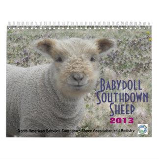 Babydoll Southdown Sheep NABSSAR 2013 Calendar