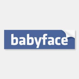babyface funny social networking parody bumper sticker