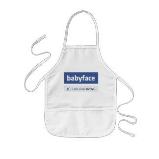 babyface funny social networking parody kids' apron