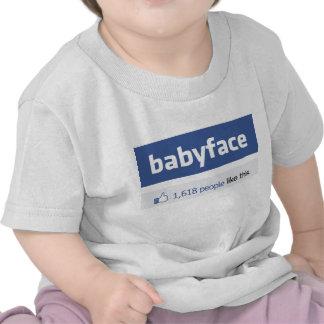 babyface funny social networking parody shirts