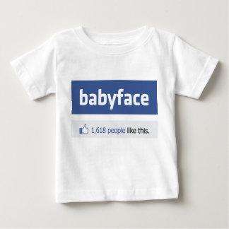 babyface funny social networking parody t shirt