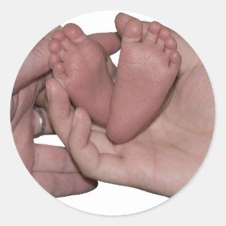 BabyFeet041410 Classic Round Sticker