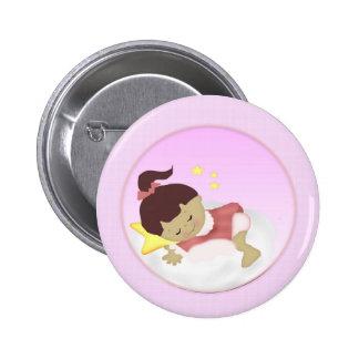 BabyGirl  Announcement/Shower Magnets Button