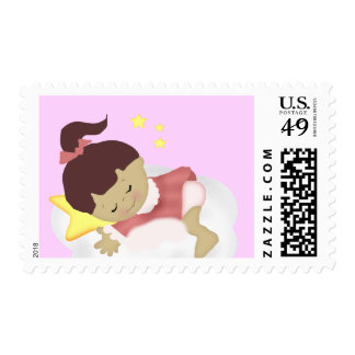 BabyGirl  Announcement/Shower Magnets Postage Stamps